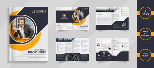 Brochure page business template vector