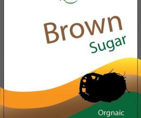 Brown sugar packaging vector