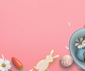 Bunny egg easter background vector
