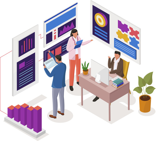 Business strategy illustration vector