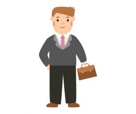 Businessman profession character vector