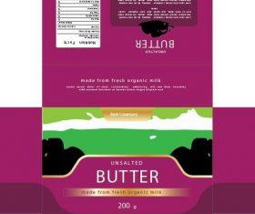 Butter packaging vector