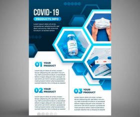 COVID-19 protective measures cover vector
