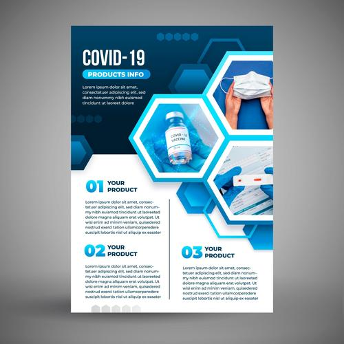 COVID 19 protective measures cover vector