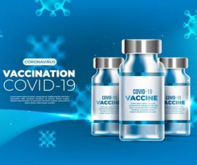 COVID -19 vaccine cartoon illustration vector