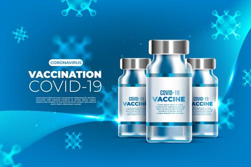 COVID  19 vaccine cartoon illustration vector