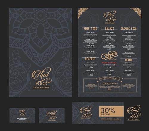 Cafe menu cover vector