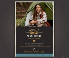 Camping homepage design vector