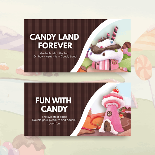 Candy land forever vector