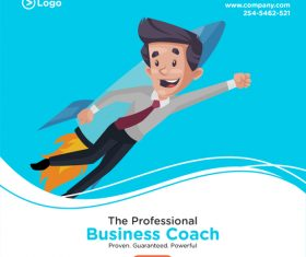 Career success cartoon illustration vector