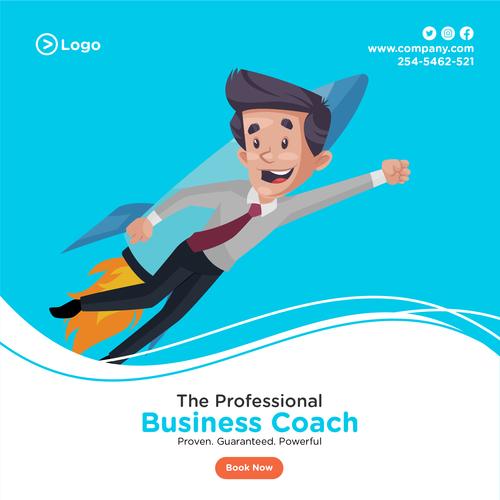 Career success cartoon illustration vector