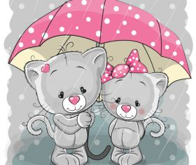 Caring for partner cartoon illustration vector