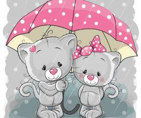 Caring for partner cartoon illustration vector