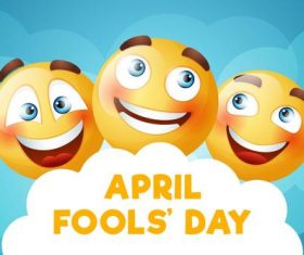 Cartoon illustration April 1 fools day vector