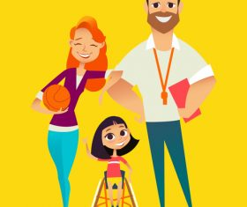Cartoon people illustration vector