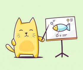 Cat cartoon illustration vector