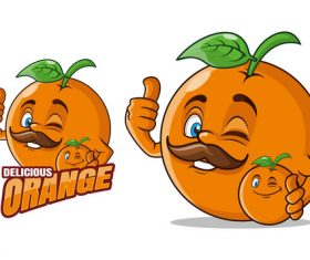 Character design fruit cartoon vector