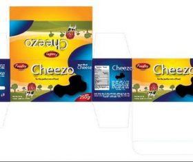 Cheese packaging vector