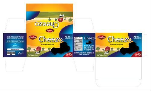 Cheese packaging vector