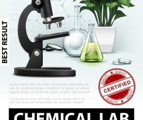 Chemical lab 3d illustration vector