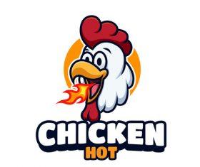 Chicken hot logo vector