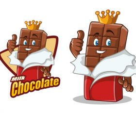 Chocolate character design cartoon food illustration vector