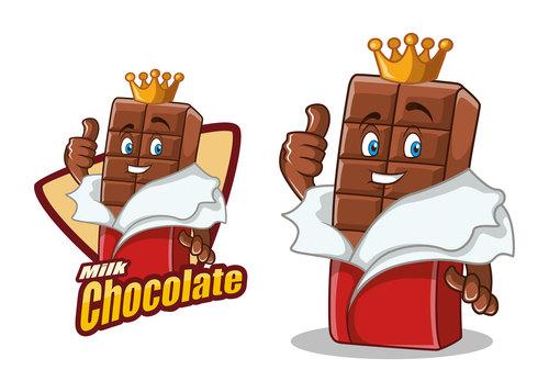 Chocolate character design cartoon food illustration vector