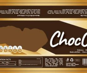 Chocolate snack packaging vector