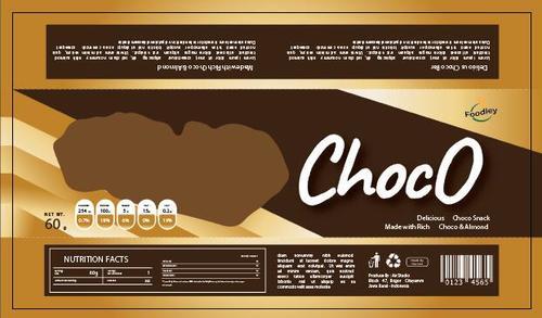 Chocolate snack packaging vector