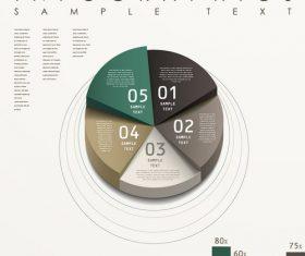 Circle analysis infographic vector