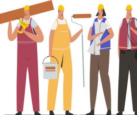 Civil engineering team illustration vector