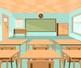 Class room illustration background vector