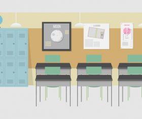 Classroom illustration background vector