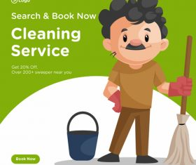 Cleaner cartoon illustration vector