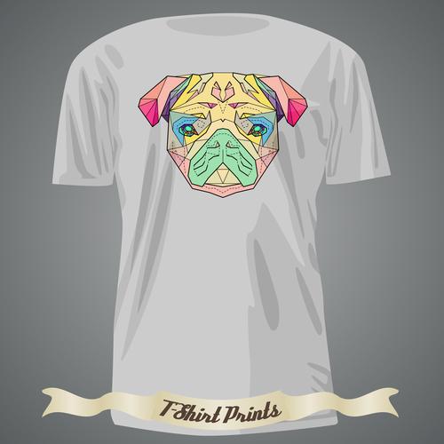 Color T Shirts prints design vector