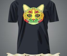 Color animal avatar head t-shirts design vector