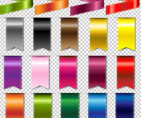 Color banner vector