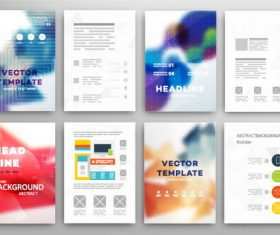 Color watercolor cover design vector