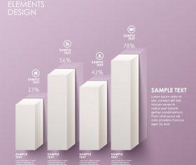 Columnar analysis infographic vector