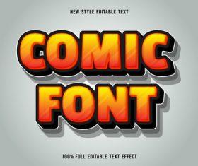 Comic font editable font text design vector