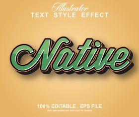 Conative editable text style effect vector
