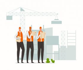 Construction planning illustration vector