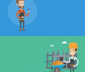 Construction worker and repairman vector