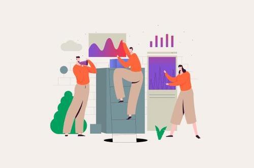 Content management illustration concept vector