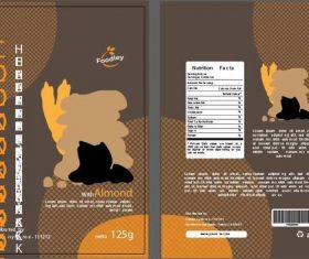 Cookies packaging brown vector