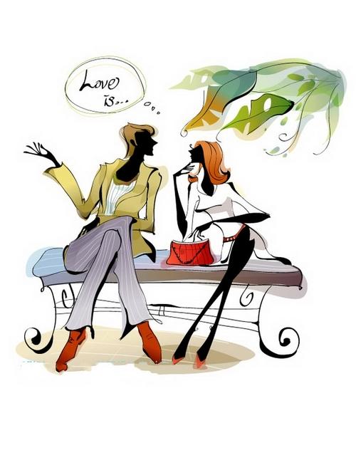Couple illustration vector