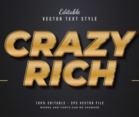 Crazy rich vector text style