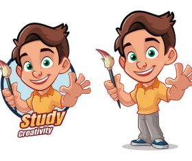 Creative Student Cartoon Character Vector