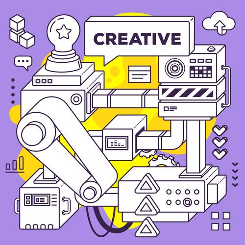 Creative concept vector