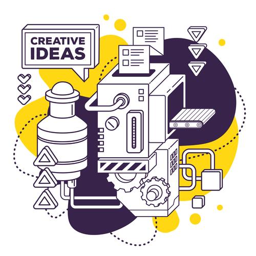 Creative ideas business concept vector